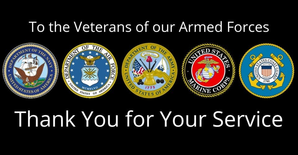 Thank you to the Veterans of our Armed Forces