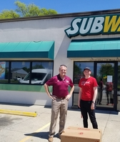 Subway Donates Chips to the Students of #348